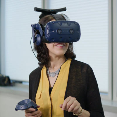 New home buyers taking an immersive VR tour